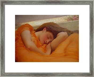 Museo De Ponce - Flaming June I Framed Print by Richard Reeve