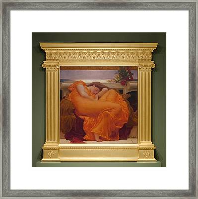 Museo De Ponce - Flaming June II Framed Print by Richard Reeve