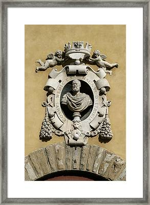 Museo Di S Maria Coat Of Arms Framed Print by Karen Stephenson