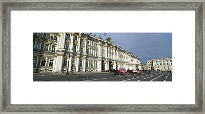 Museum Along A Road, State Hermitage Framed Print by Panoramic Images