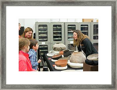 Museum Archaeology Display Framed Print by Jim West