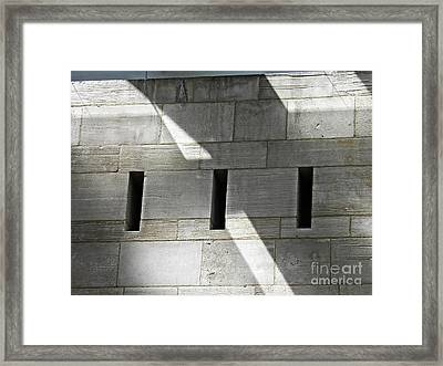 Museum In The Abstract 2 Framed Print by Sarah Loft