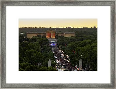 Museum Of Art And Ben Franklin Parkway Framed Print