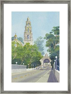 Museum Of Man Balboa Park Framed Print