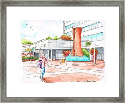 Museum Square In Wlshire Blvd Miracle Mile - Los Angeles - California Framed Print
