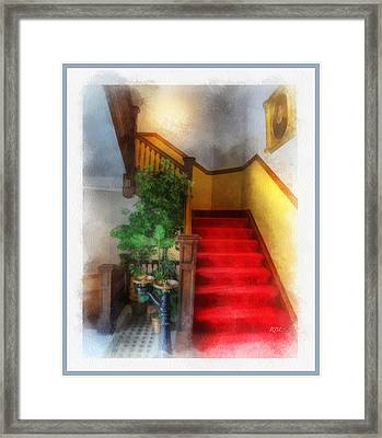 Museum Stairs Framed Print by Rick Lloyd