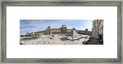 Museum With Glass Pyramid, Musee Du Framed Print