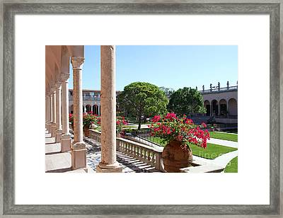 Museums Courtyard  Framed Print