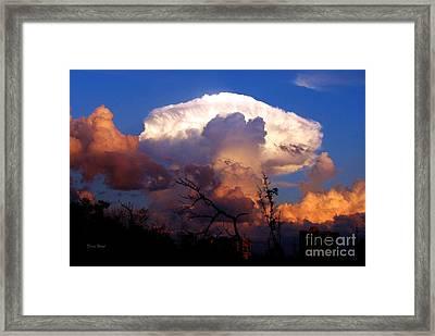 Mushroom Cloud At Sunset Framed Print by Doris Wood