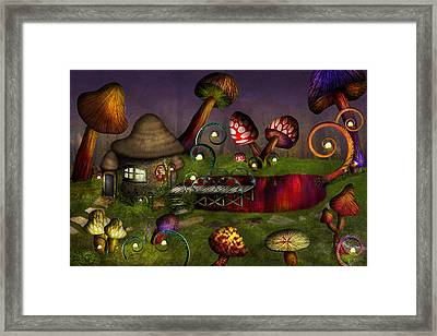 Mushroom - Deep In The Bayou Framed Print by Mike Savad