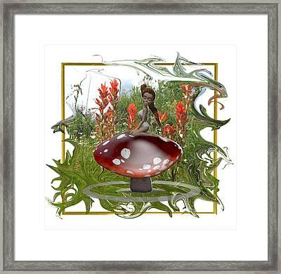 Mushroom Fairy Framed Print by Jennifer Schwab