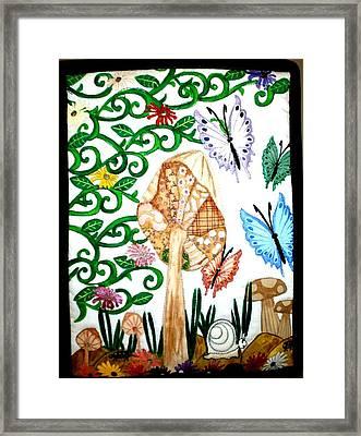 Mushroom Hunt Framed Print by Linda Egland