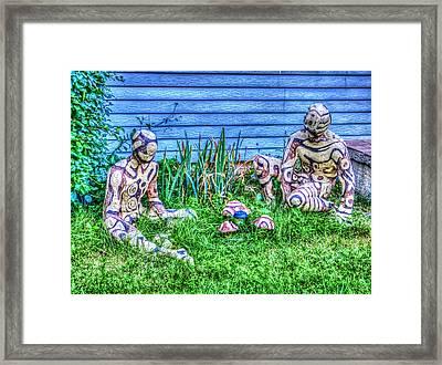 Mushroom Hunters Framed Print