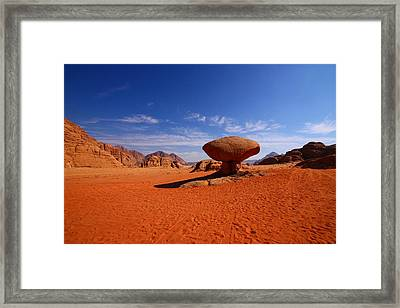Mushroom Rock Framed Print by FireFlux Studios