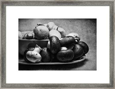 Mushroom Still Life Framed Print by Tom Mc Nemar