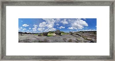Mushroom Valley Framed Print by Camilla Fuchs