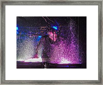 Mushroomhead He'd 2 Hed 2 At Backstage Live Framed Print by Josh Scanlon