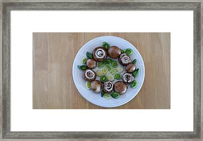 Mushrooms And Leeks Framed Print
