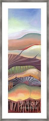 Mushrooms Landscape Framed Print