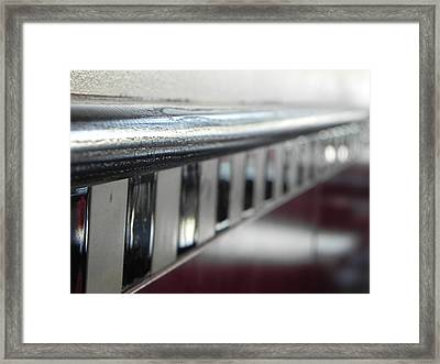 Musial Chair Rail Framed Print by Julie Shiroma
