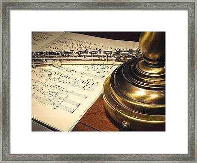 Music And Flute Framed Print