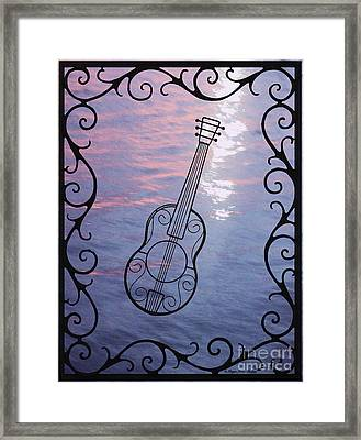 Music And Light Framed Print