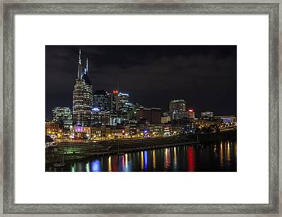 Music And Lights Framed Print by CJ Schmit