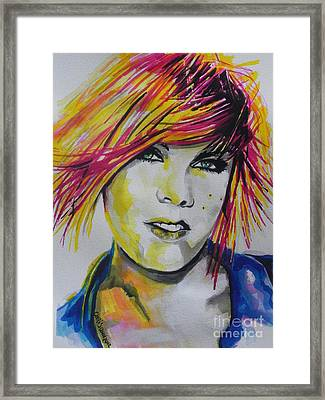 Music Artist..pink Framed Print by Chrisann Ellis
