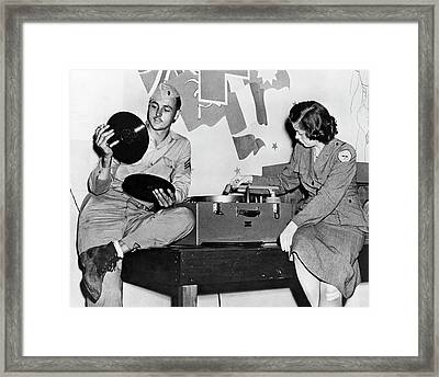 Music At Red Cross Club Framed Print by Underwood Archives