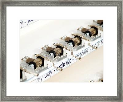 Music Boxes Framed Print by Sinisa Botas