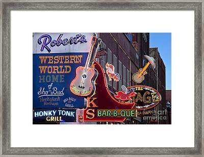 Music Clubs Nashville Framed Print by Brian Jannsen