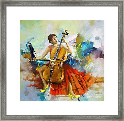 Music Colors And Beauty Framed Print by Corporate Art Task Force