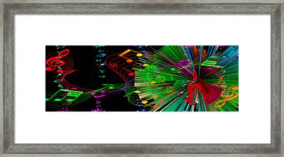 Music Colors The World 3 Framed Print by Angelina Vick