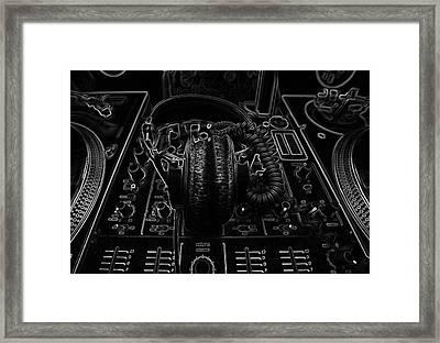 Music Dj Framed Print by Marvin Blaine