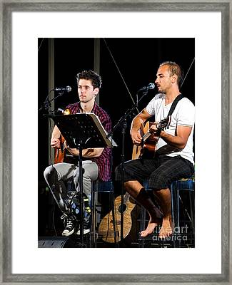 Music Duo Framed Print by Sinisa Botas