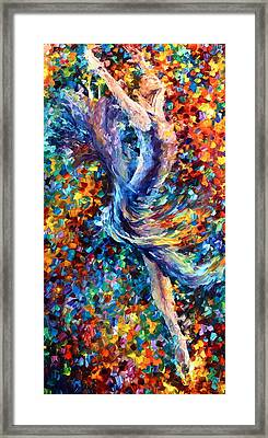 Music Flight Framed Print by Leonid Afremov