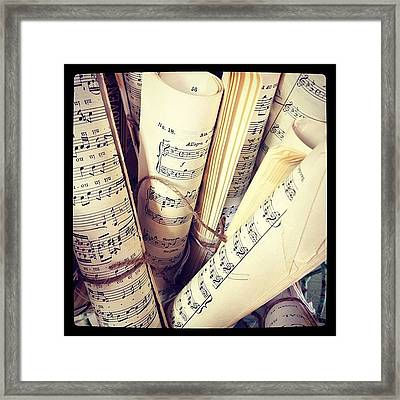 Music For Sale #mozart #antiques Framed Print