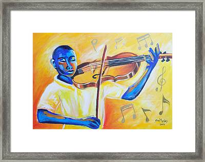Music For The Soul Lets Play Framed Print by Olaoluwa Smith