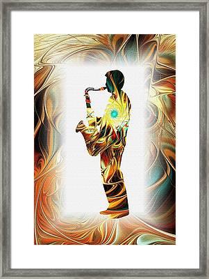 Music - From The Heart Framed Print by Anastasiya Malakhova