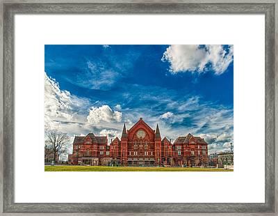 Music Hall Framed Print by Matthew  Zory