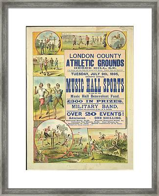 Music Hall Sports Framed Print by British Library