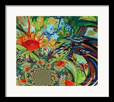 Plant Singing Digital Art Framed Prints