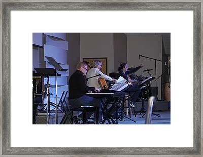 Music In Church Framed Print by Carolyn Ricks