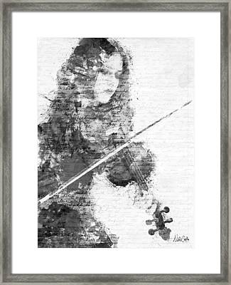 Music In My Soul Black And White Framed Print by Nikki Marie Smith