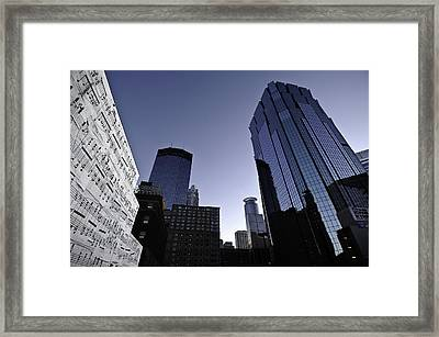 Music In The City Framed Print