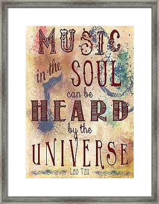Music In The Soul Framed Print by Heather Applegate