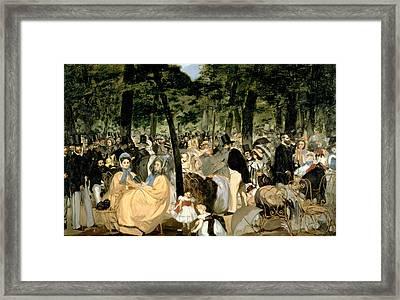 Music In The Tuileries Gardens Framed Print
