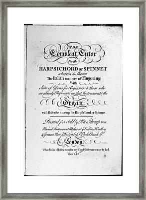 Music Instruction Book Framed Print by Granger