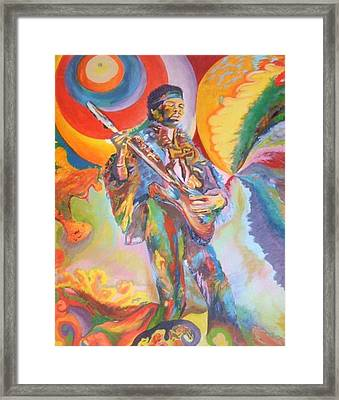 Music Is Ecstasy  Framed Print by Erik Franco
