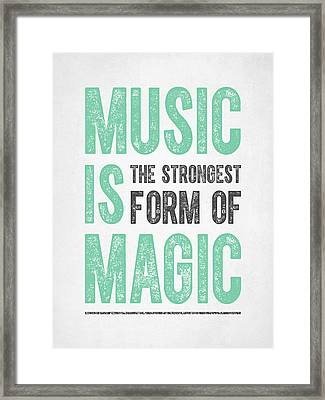 Music Is Magic Framed Print